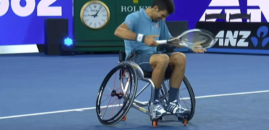 Novak Djokovic inspira-se em tenistas cadeirantes como Dylan Alcott