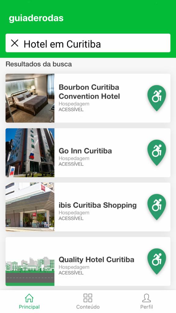 hotel com acessibilidade em curitiba