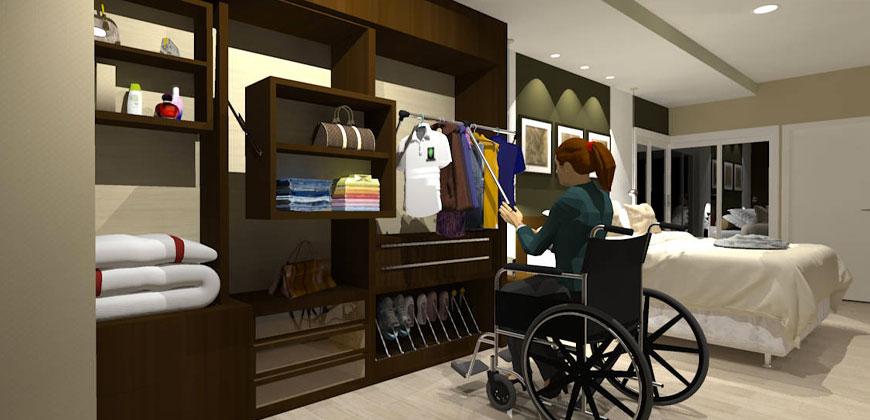 Casa Adaptada para Cadeirantes e Idosos
