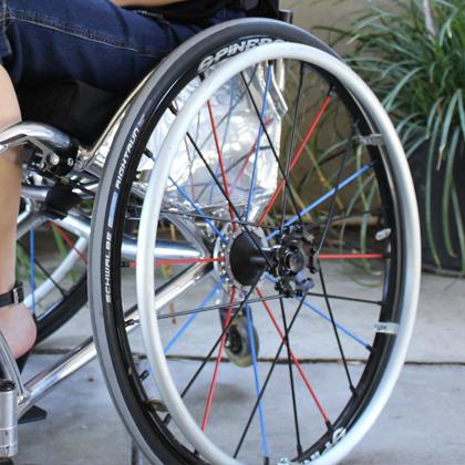 roda traseira Cadeira de Rodas