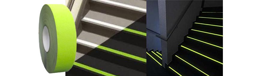 fita antiderrapante neon