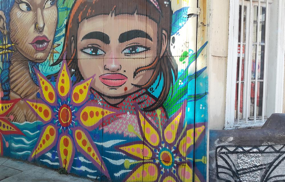 grafite em Valparaiso