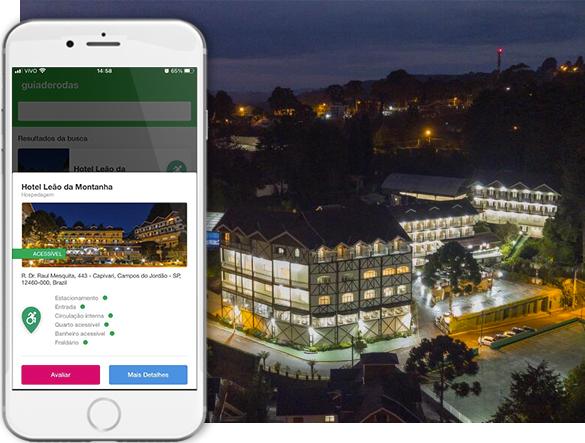 acessibilidade hotel leao da montanha