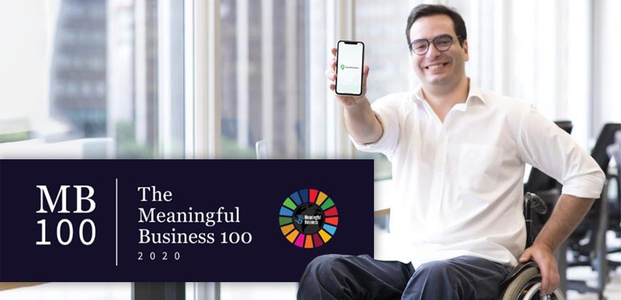 Bruno Mahfuz do Guiaderodas é reconhecido como Meaningful Business 100 Leader for 2020