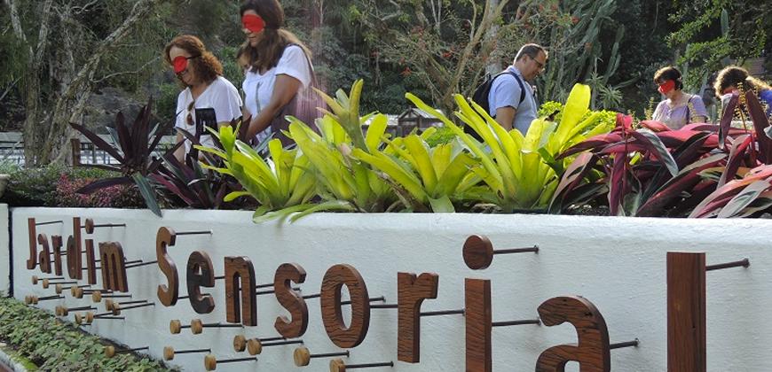 Jardim Sensorial promove experiência interativa no Jardim Botânico