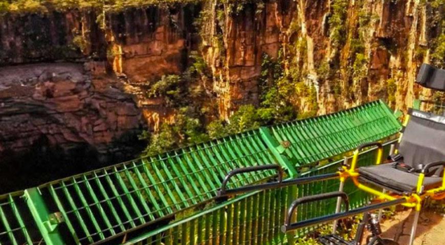Aventura com acessibilidade na Chapada dos Guimarães