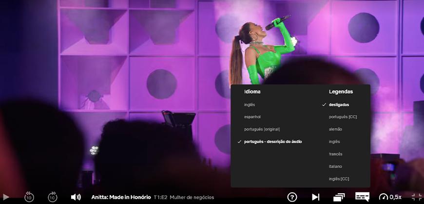 Audiodescrição em plataformas de streaming